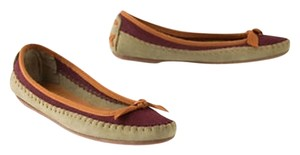 Anthropologie Leather Moccasin Boho Mixed color Flats