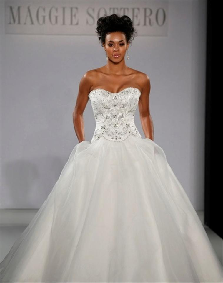 Maggie Sottero Ivory Organza Over Delustered Satin Allison ...