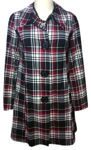 E.C. Star Swing Plaid Red Black White Gray Jacket
