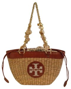 Tory Burch Straw Handbag Straw Tote in Natural