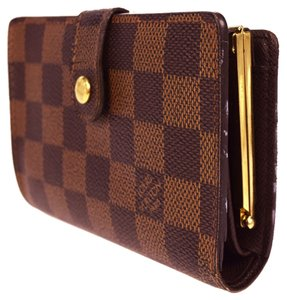 Louis Vuitton LOUIS VUITTON Wallet Purse Bifold Damier Canvas Leather Brown