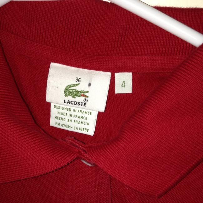 Lacoste T Shirt Dark Red