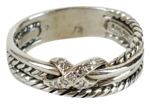 David Yurman Crossover Diamond Sterling Silver Ring
