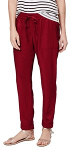 Ann Taylor LOFT Relaxed Pants Rusty Brick Red