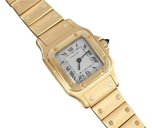 Cartier Cartier Ladies Santos Galbee Quartz Bracelet Watch - 18K Gold
