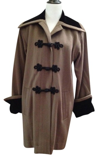 666681dc6e7 durable modeling Saint Laurent Yves Mocha Cashmere Swing Sz M/l From Runway Trench  Coat
