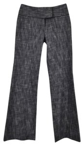 Isabella Rodriguez Flare Cuff Leg 61% Cotton 37% Polyester 2% Spandex Boot Cut Pants Variegated Black and Charcoal