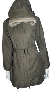 Trina Turk Fur Water-repellant Winter Fur Coat