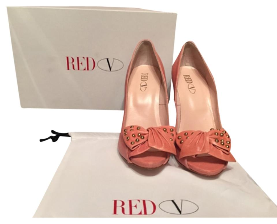 RED Valentino Pink with Gold Pumps Pumps Gold 995c85