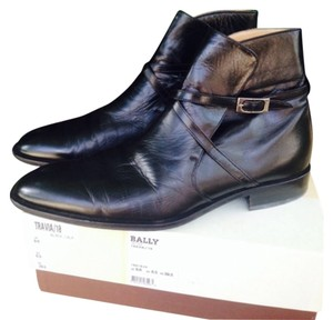Bally Leather Ankle Italy Silver Hardware Black Boots