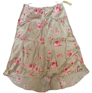 Banana Republic Skirt Nude with pink flowers