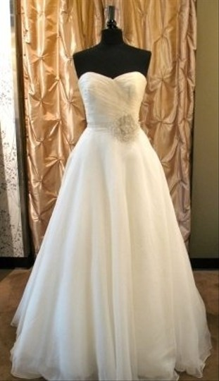 Badgley Mischka Ivory Organza Keeneland Traditional Wedding Dress Size 2 (XS)