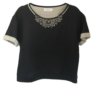 Velvet by Graham & Spencer Jewels Embroidered Sweater