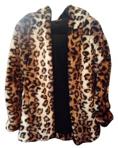 Lucca Couture Faux Fur Leopard Cheetah Printed Trendy Fur Coat