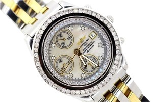 Breitling MEN'S BREITLING 2-TONE CHRONOGRAPHE WITH DIAMOND BEZEL