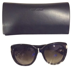 Saint Laurent Saint Laurent Black Oversized Sunglasses
