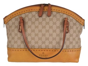 Gucci Yellow Laidback Crafty Satchel in Multi-Color