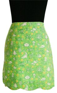 Lilly Pulitzer Mini Mini Skirt green/yellow/white