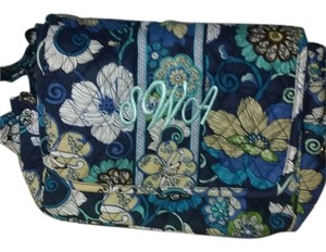 Vera Bradley Satchel in Blue and green and tan and white
