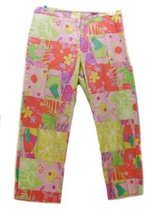Lilly Pulitzer Pants Patchwork Capris pink/orange/yellow/green