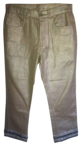 DKNY Holiday New Capri/Cropped Pants Gold/Silver