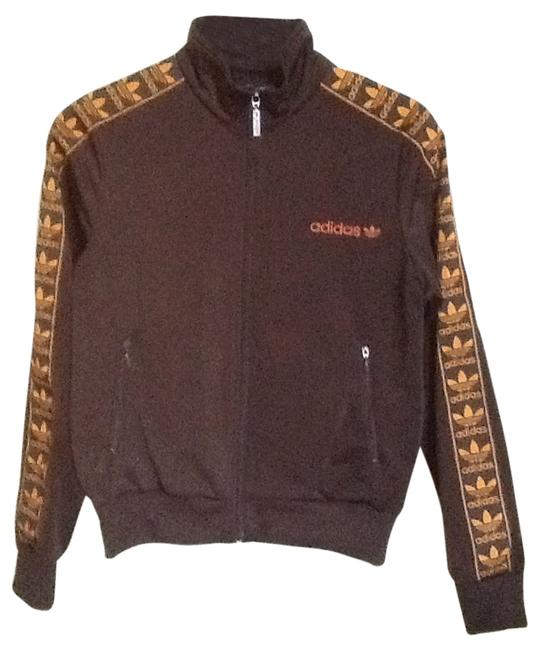 Item - Brown/ Orange Firebird Track Jacket Activewear Size 8 (M, 29, 30)