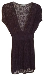 Anthropologie Lace Top Black
