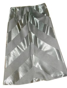 The Limited Satin Tea Length Small Skirt BLACK