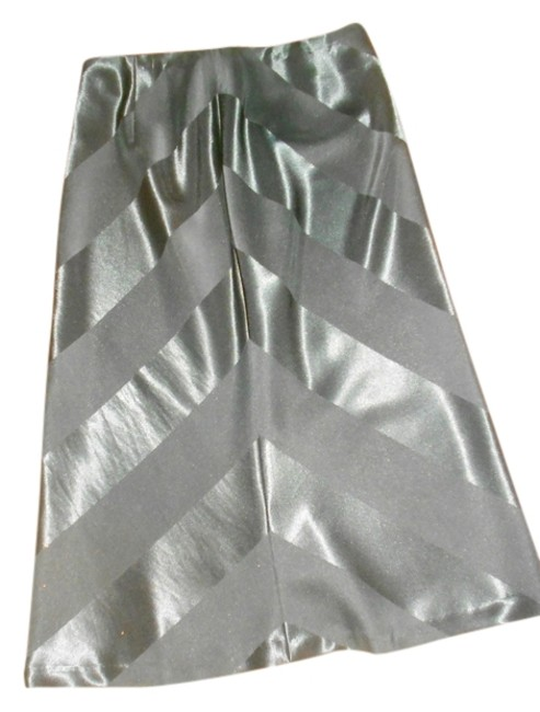 The Limited Satin Tea Length Size Small Skirt BLACK