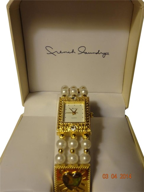 Item - Pearl & Gold Vintage Jacmor Gold-tone By Watch