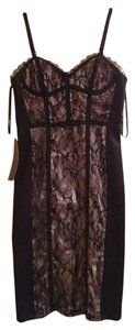 bebe Vegas Lace Midi Dress