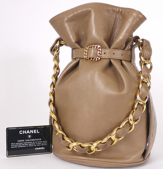 Chanel Clutch Chunky Vintage Satchel in Tan