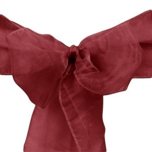 Red 70 Burgundy Organza Chair Sashes Tableware