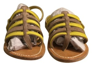 K. Jacques Grey & Yellow Sandals