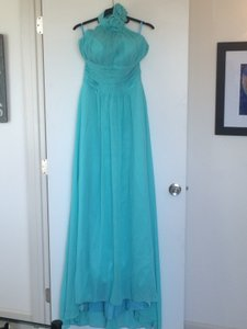 Jade Polyester - Faux Chiffon Feminine Bridesmaid/Mob Dress Size 6 (S)