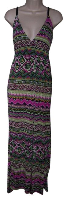 Multi Color Maxi Dress by Just Love Small Aztex Sleeveless Maxi