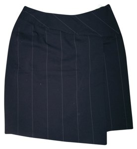 Preston & York New 10 Petite Pencil Pinstripe Skirt Black