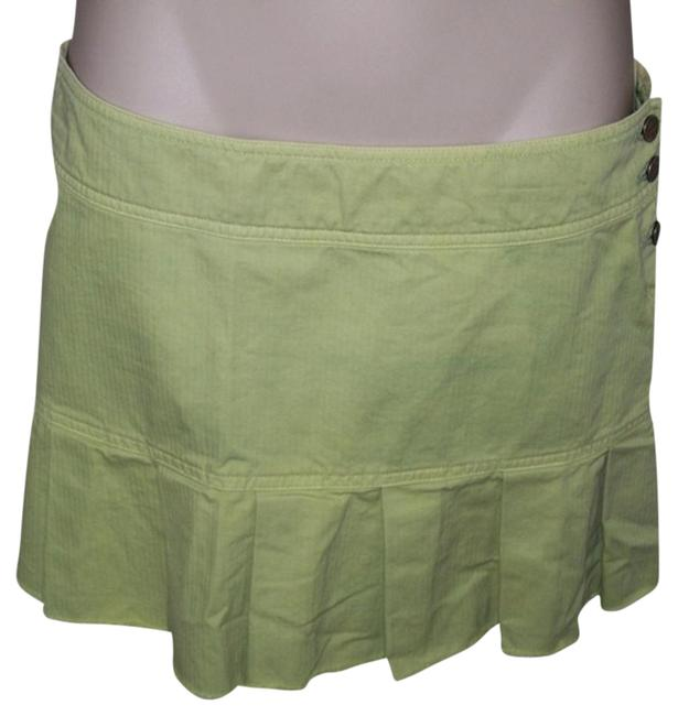 American Eagle Outfitters Size 2 Lime Mini Cutoff Mini Skirt Green