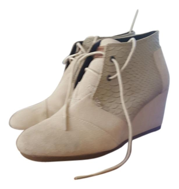 Item - Off White Suede/Leather Boots/Booties Size US 8.5 Wide (C, D)
