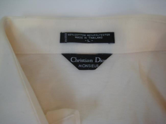 Christian Dior Button Down Shirt Ivory Cream
