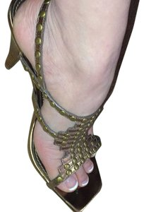 Linea Paolo Without Box Studded Gold Sandals