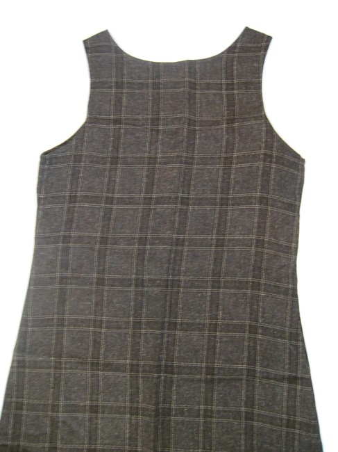 Anthropologie short dress Brown Gray Checkered on Tradesy