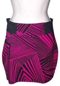 No Boundaries No Medium Junior Mini Bandage Animal Print Mini Skirt Pink Black