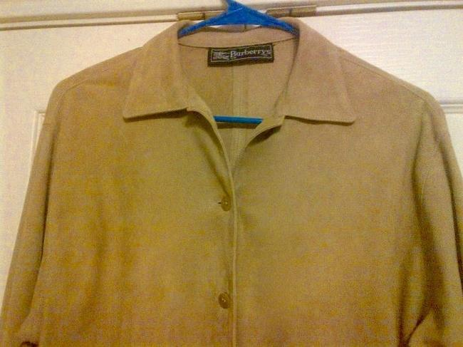 Burberry Suede Beige Leather Jacket