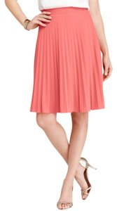 Ann Taylor Pleated Skirt Coral