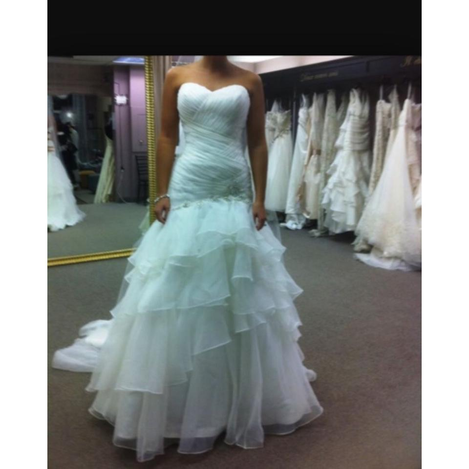 Forever Yours Wedding Gowns: Forever Yours White 411110 Sexy Wedding Dress Size 8 (M