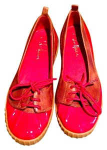 Cole Haan Patent Leather Red/Tan Mules