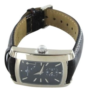 Baume & Mercier BAUME & MERCIER 65303 WATCH LEATHER BAND AMS GENEVE SWISS MADE STAINLESS STEEL