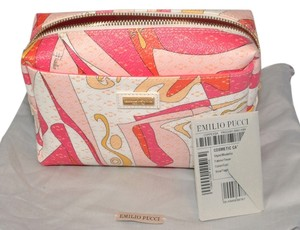 Emilio Pucci Scarf Print Leather Pink Travel Bag
