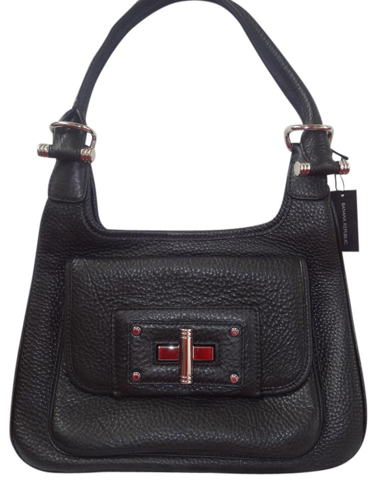 0b58a9dd2faa Banana Republic Br - The Handbag Collection Black Genuine Leather Satchel
